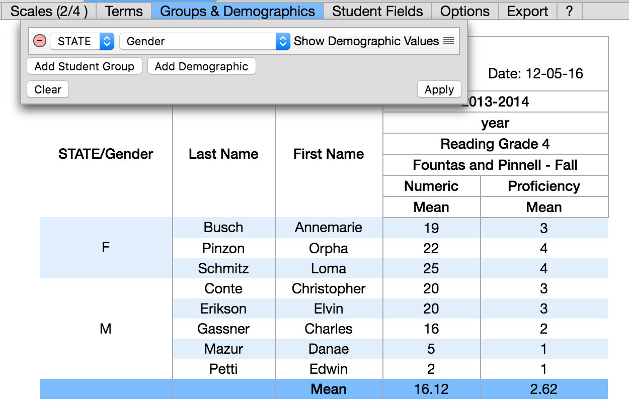 Wiki StudentUnitReport AddDemographics STATE Gender MF Showing.png